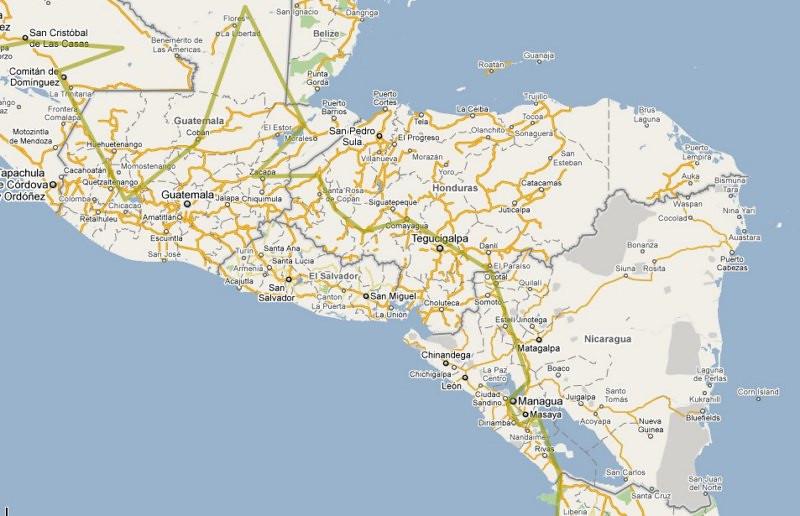 Pictures From Honduras And NicaraguaJammin Global Adventures - Nicaragua map honduras