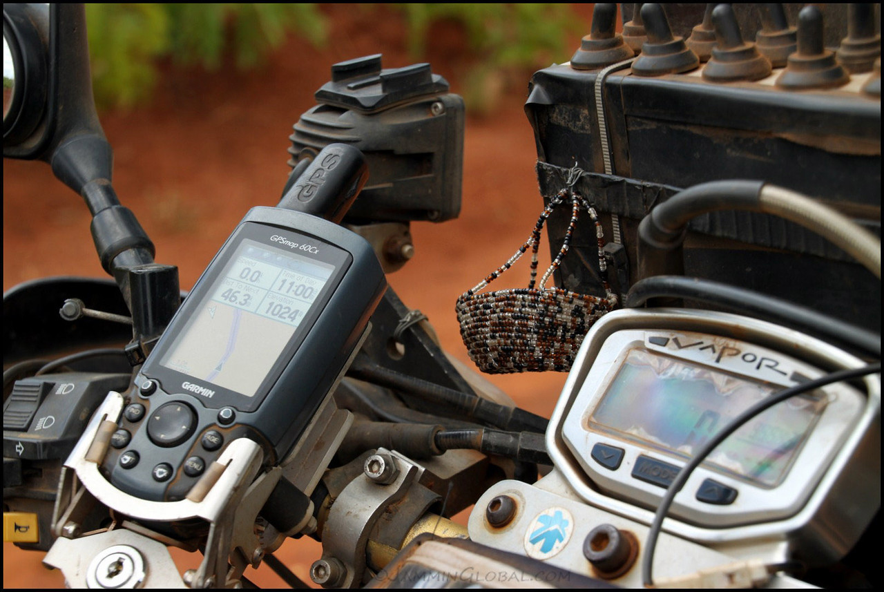 Trusty Garmin GPS 60Cx in Mozambique