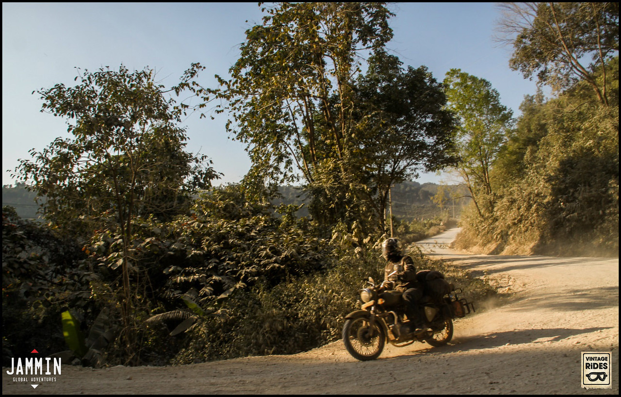 Offroad riding in Laos