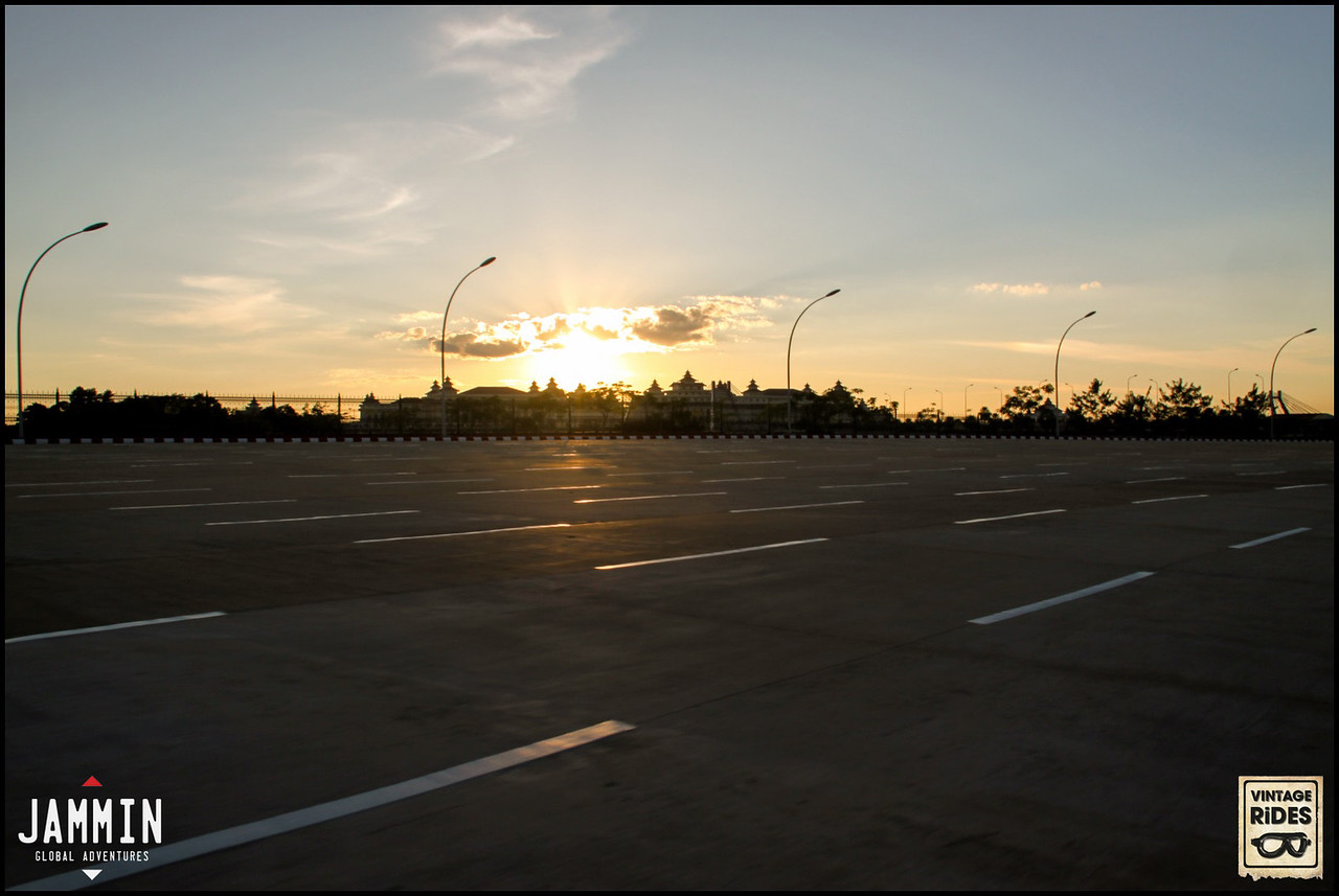 Empty concrete roads of Nay Pyi Taw