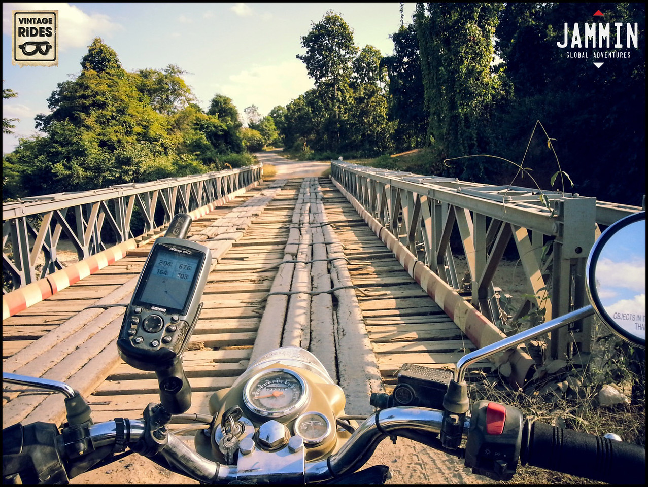 Crossing the wooden bridges of Myanmar
