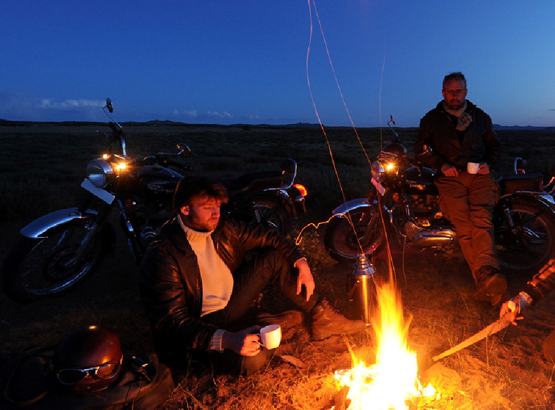 Campfire out on the open steppe