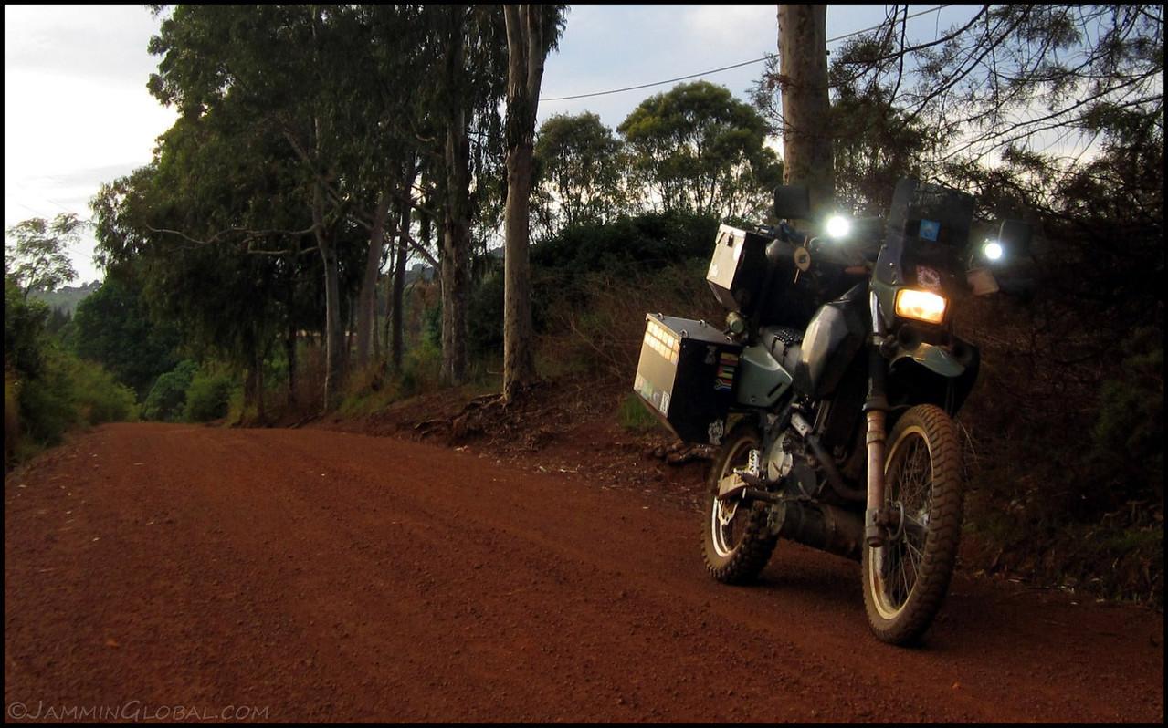 sanDRina, a DR650, in Tanzania