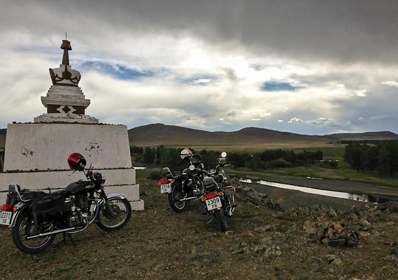 Passing a Buddhist stupa