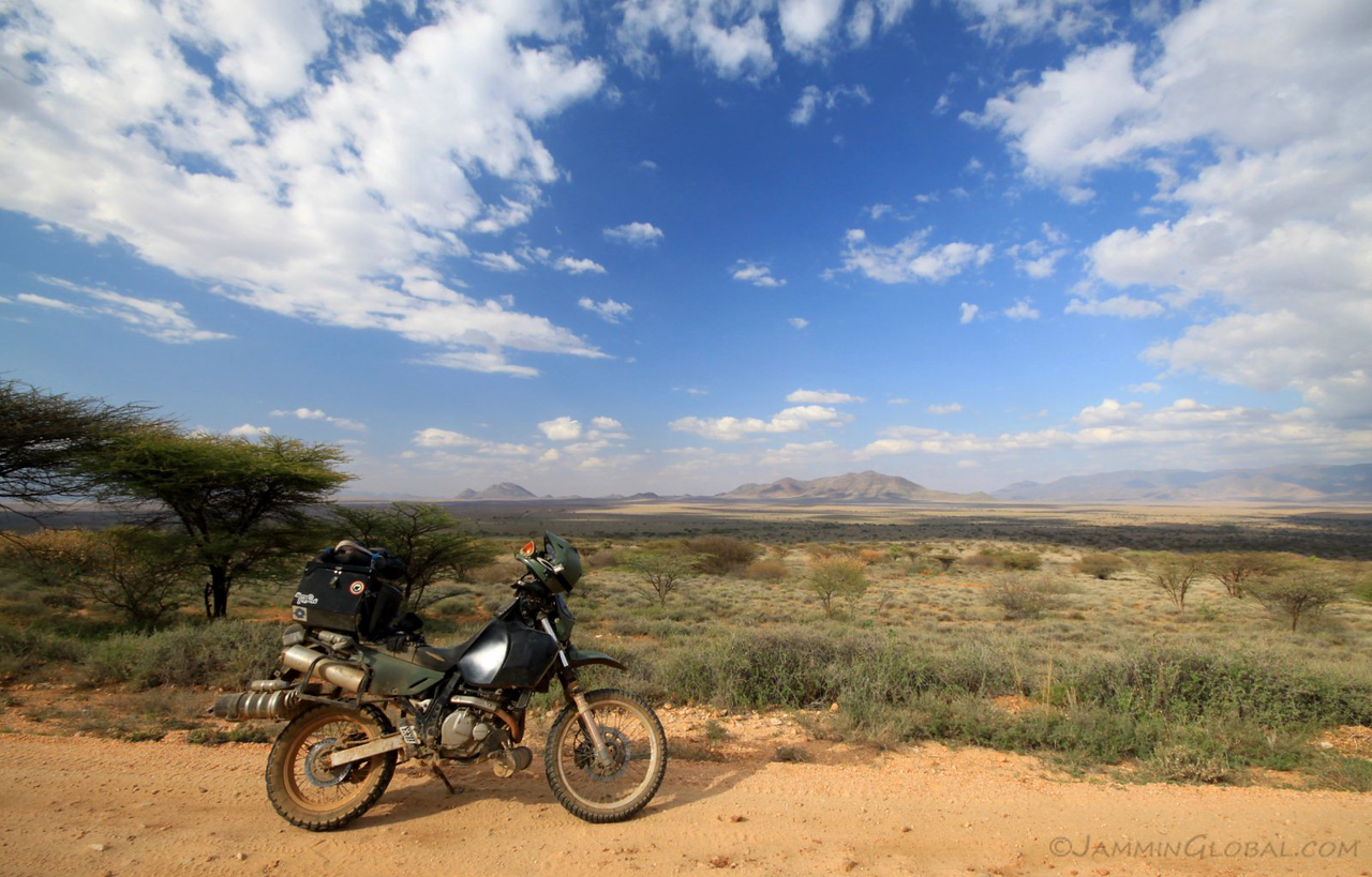sanDRina riding the Lake Turkana Route in Kenya