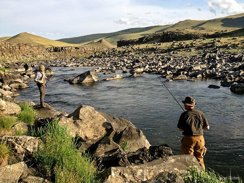 River fishing in the Orhon Valley